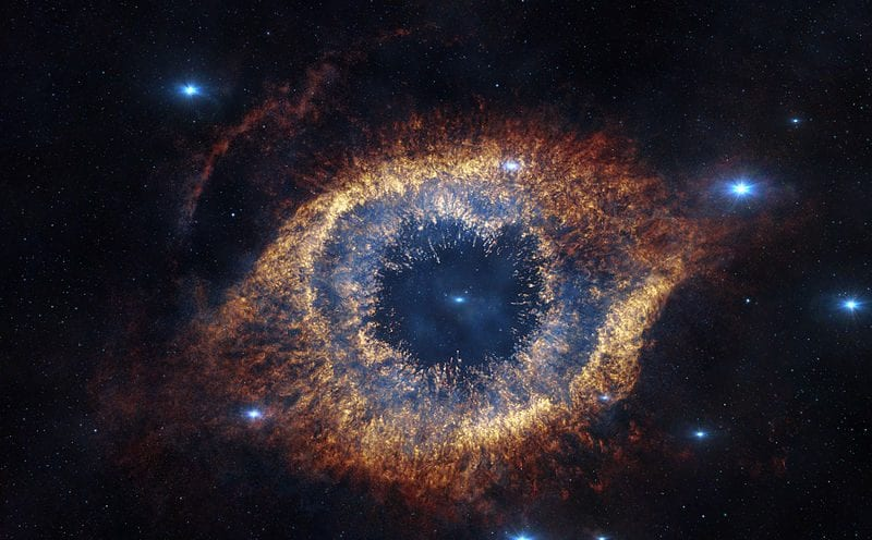 picture of a galaxy that looks like an eye and makes you ponder your existence