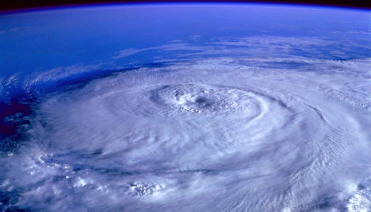 eye of the storm from space