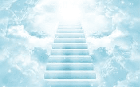 A stairway which leads to heaven, maybe to God's Throne