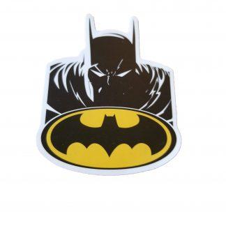 Bat logo with Batman above it