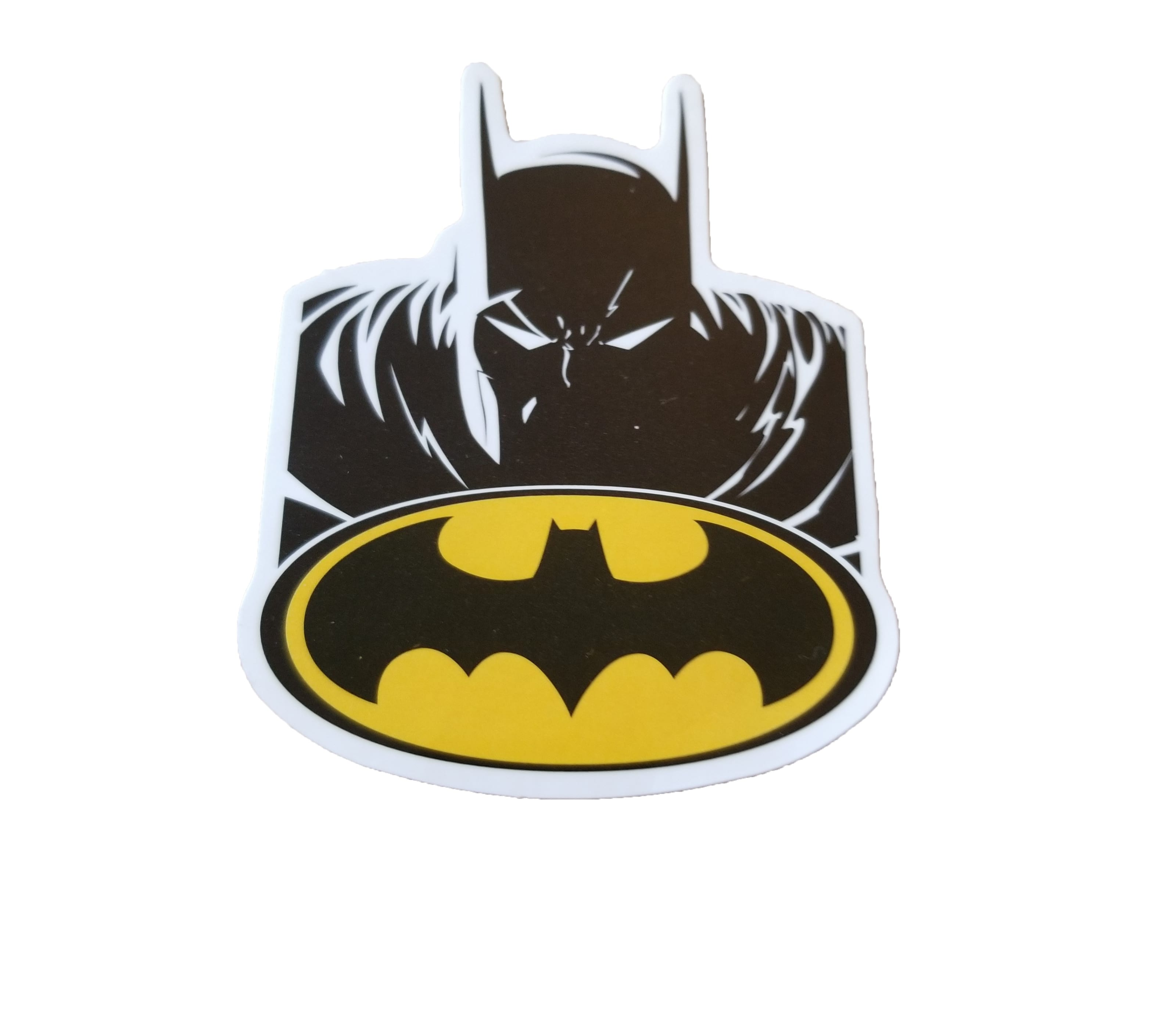 Bat logo with Batman above it