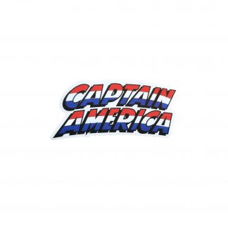"Captain America Logo, Sticker shows the name ""Captain America"""