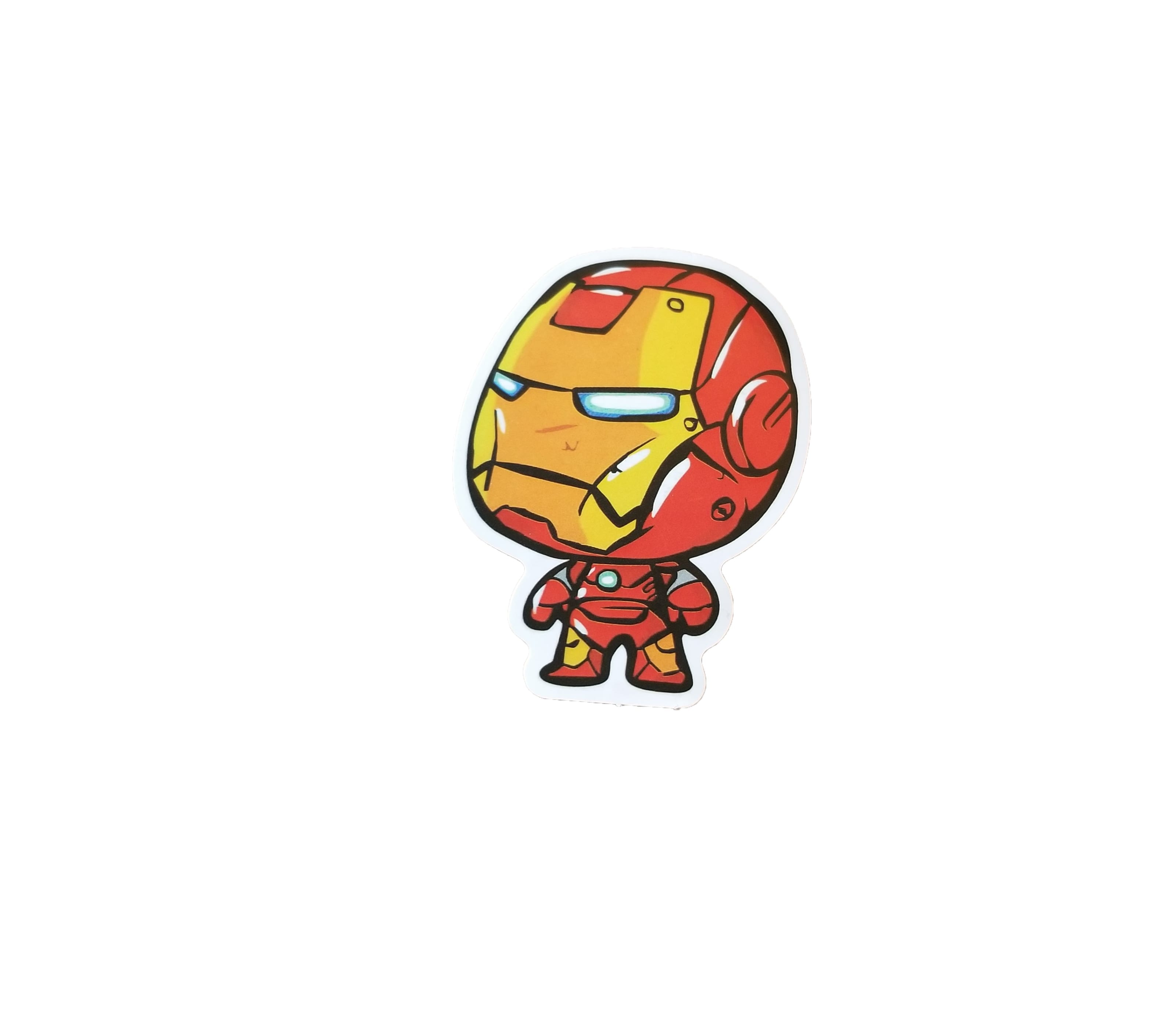 Cute unhappy iron man sticker