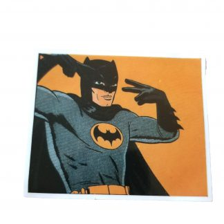 Retro Picture of Batman throwing up peace signs
