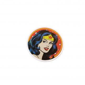 round wonder woman head sticker