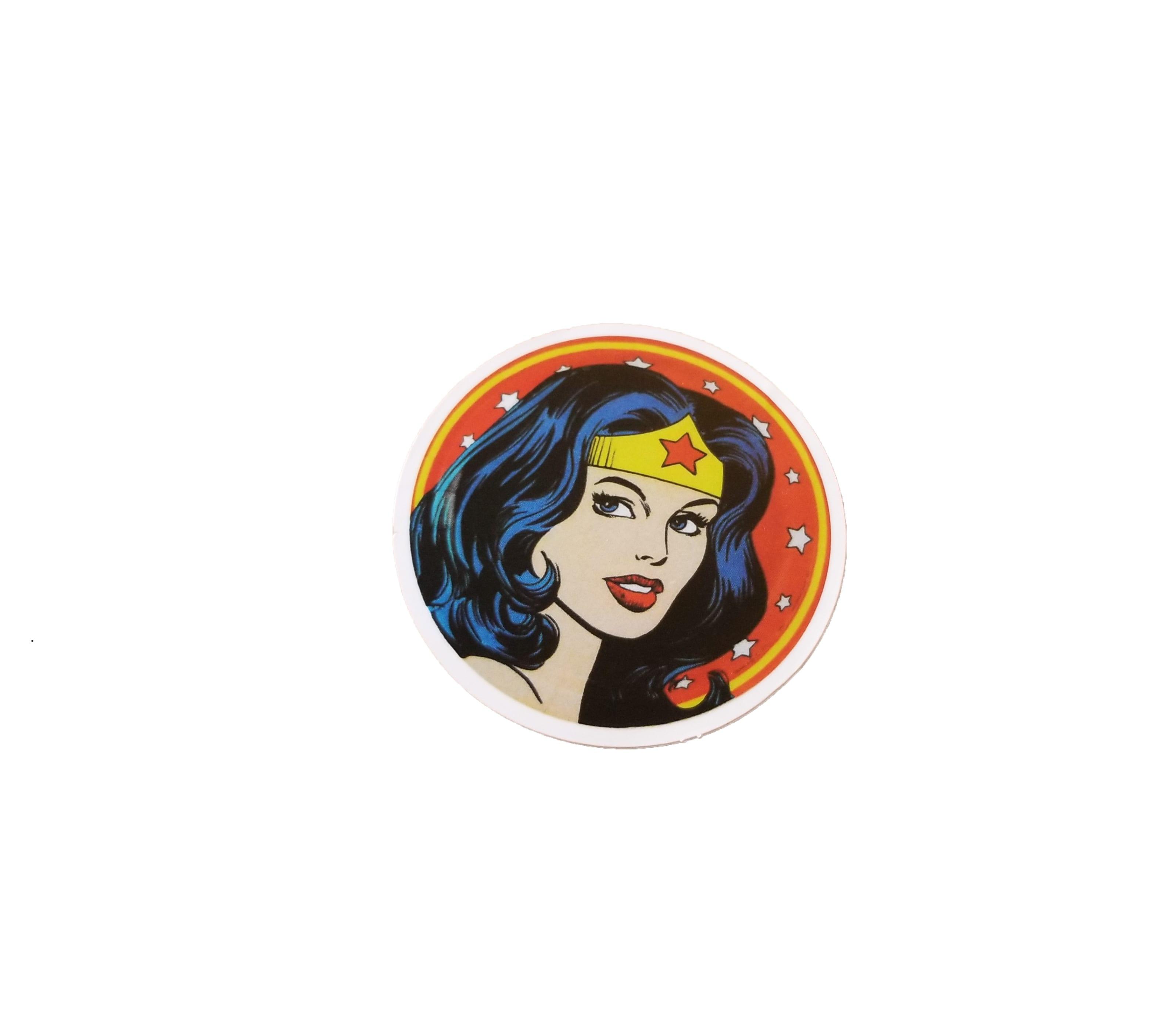 round wonder woman head sticker