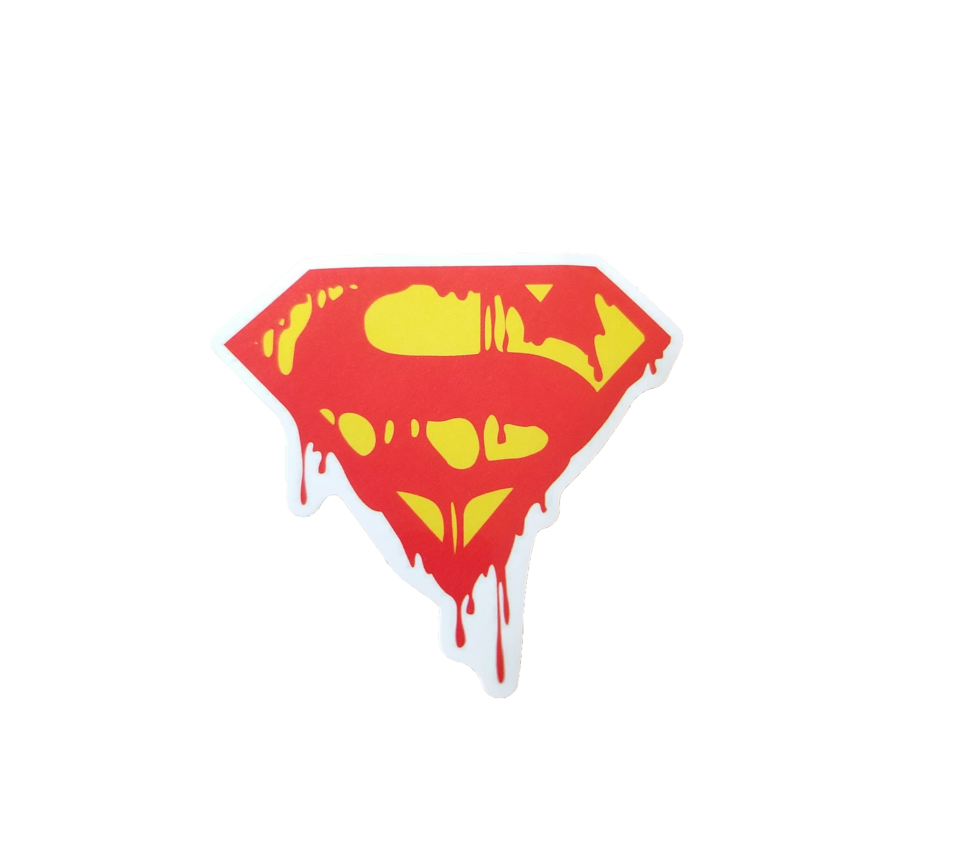 Superman Logo Dripping red