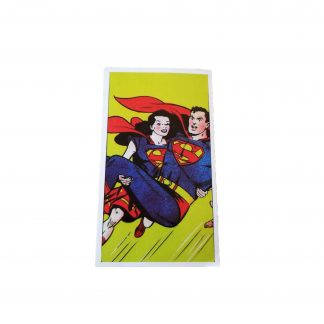 a rare sticker of wonder woman carrying superman