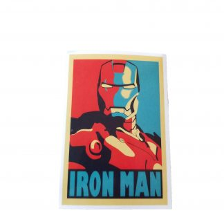 pop art iron man sticker