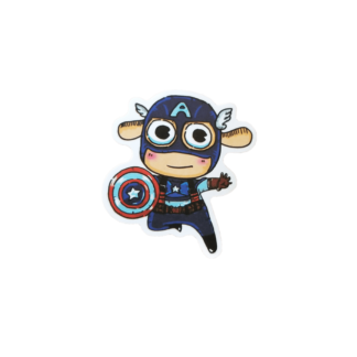 cutey baby looking Captain America sticker