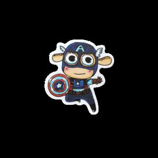 cutey baby looking Captain America sticker